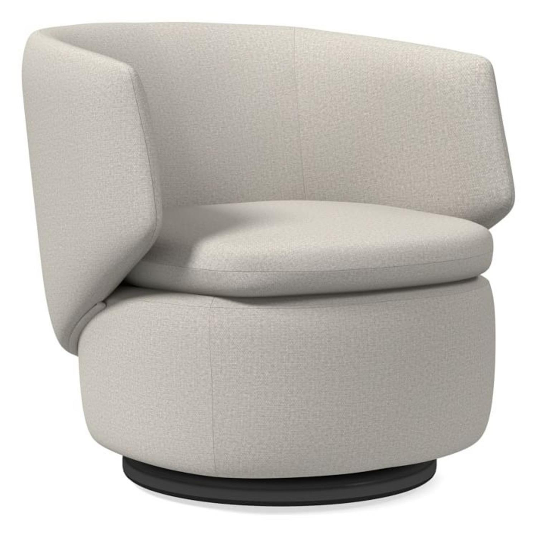 West Elm Crescent Swivel Chair - image-1