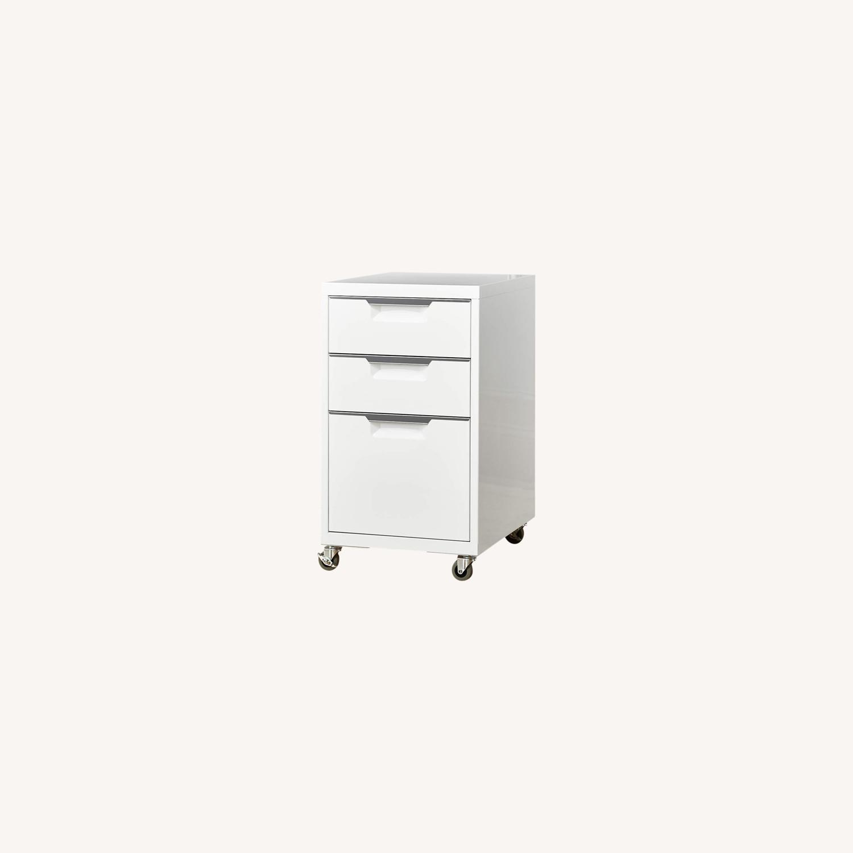CB2 White 3-Drawer Filing Cabinet - image-0