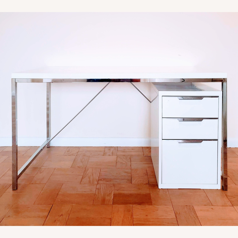 CB2 White 3-Drawer Filing Cabinet - image-3