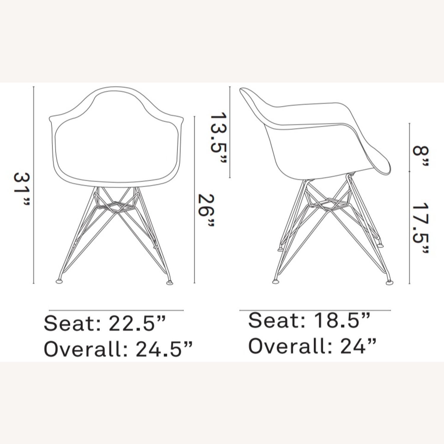 Modern Dining Chair In Red Finish W/ Steel Base - image-4