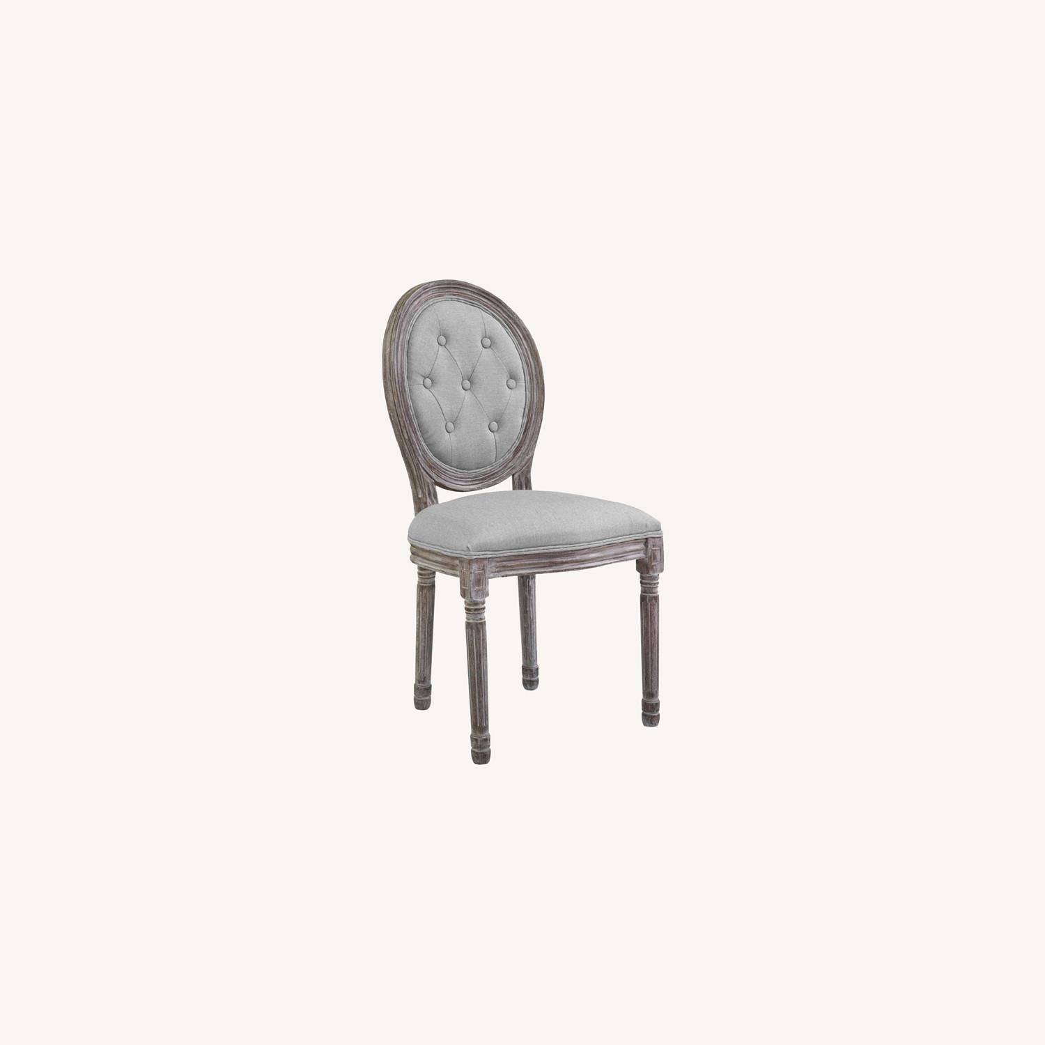 Traditional Dining Chair In Light Gray Finish - image-6