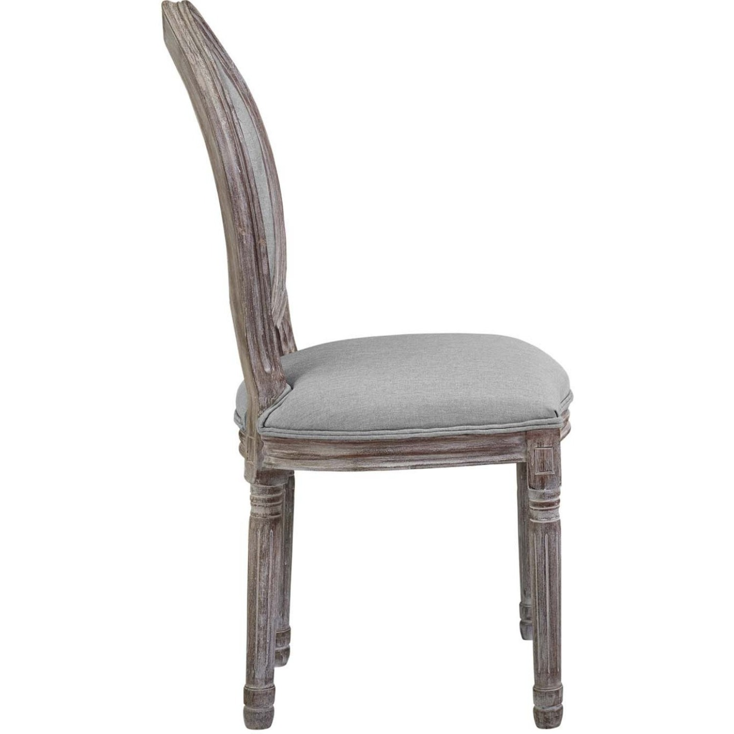 Traditional Dining Chair In Light Gray Finish - image-1