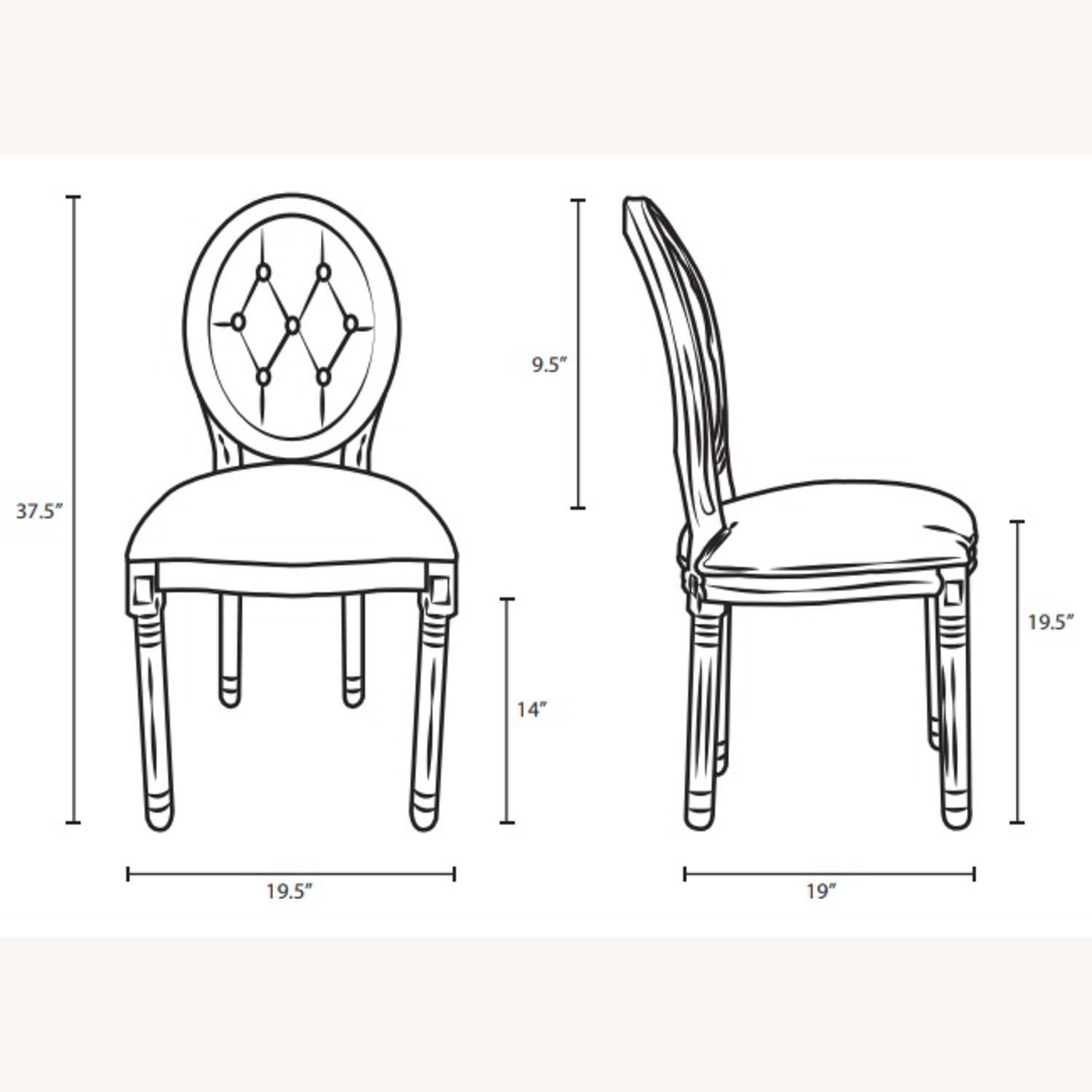 Traditional Dining Chair In Light Gray Finish - image-5