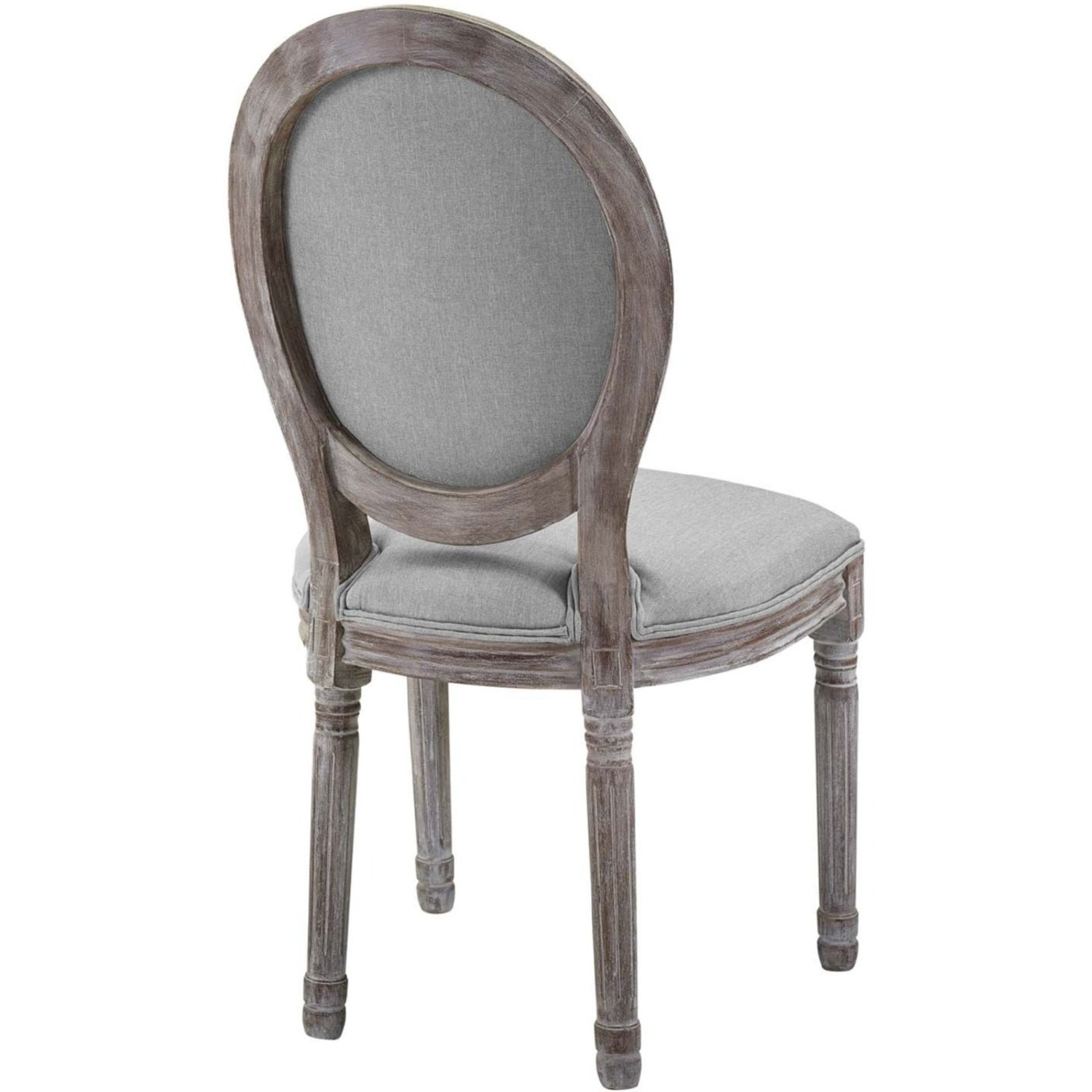 Traditional Dining Chair In Light Gray Finish - image-2