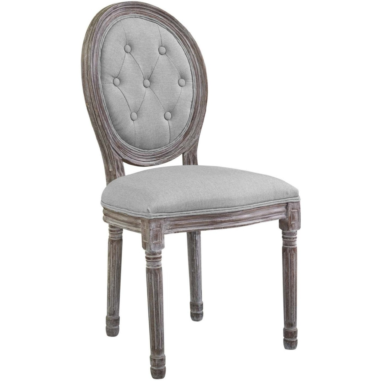 Traditional Dining Chair In Light Gray Finish - image-0
