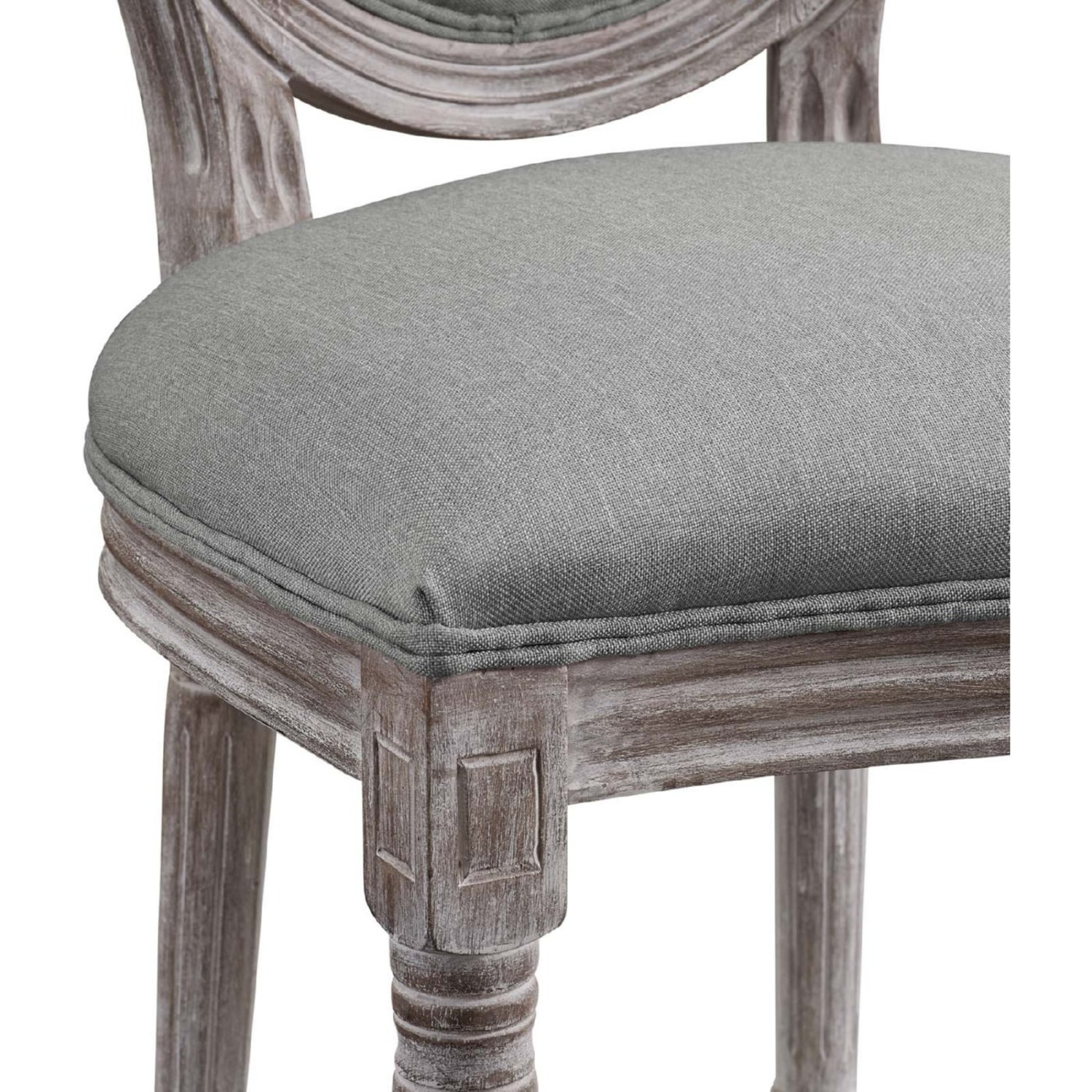 Traditional Dining Chair In Light Gray Finish - image-3