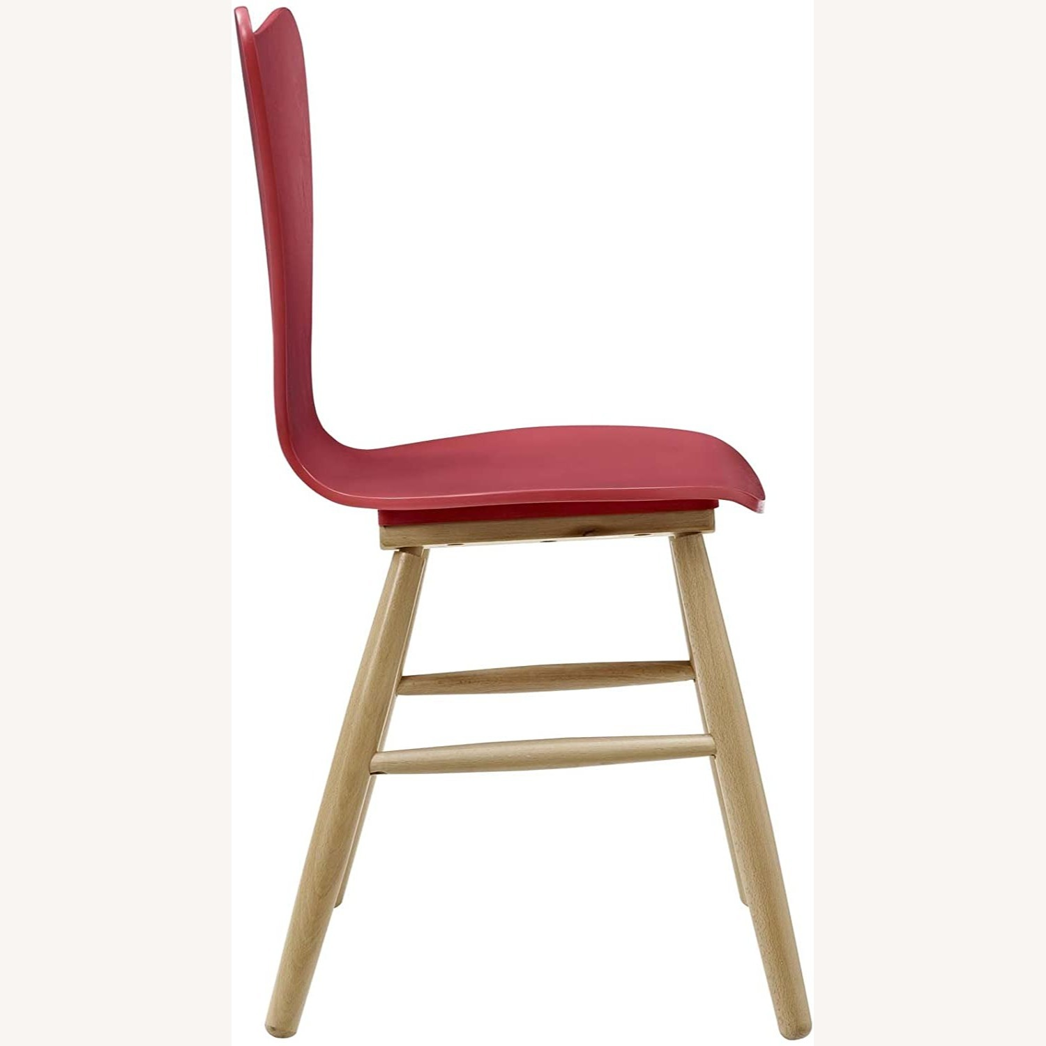 Mid-Century Style Dining Chair In Red Finish - image-1