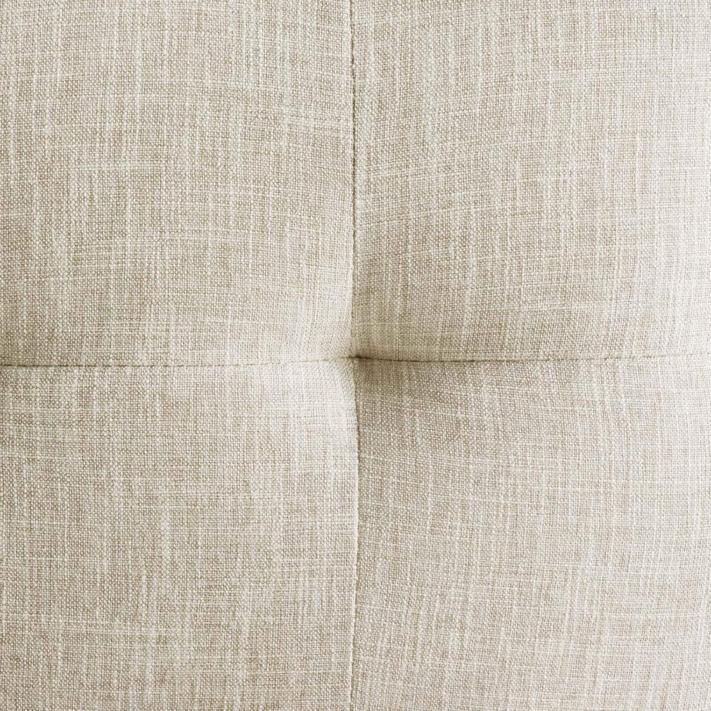 Modern Bar Stool In Beige Fabric & Gold Base - image-5