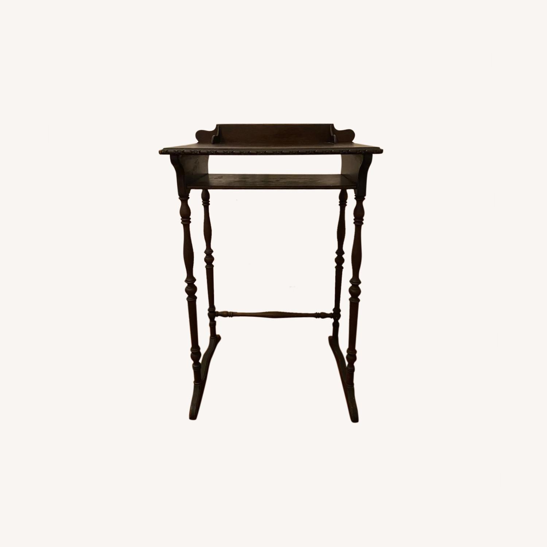 Vintage Wooden Telephone Table/Nightstand - image-0