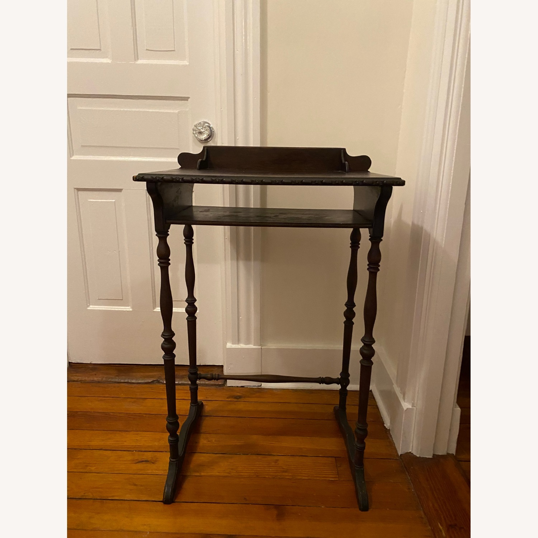 Vintage Wooden Telephone Table/Nightstand - image-1
