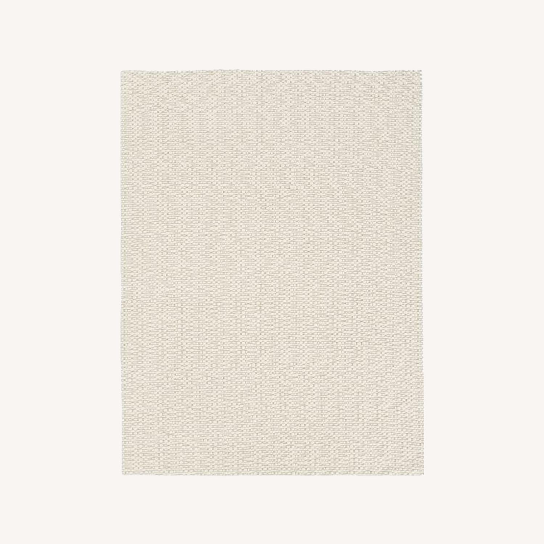 West Elm Slub Stripe Sweater Rug, White, 9'x12' - image-0
