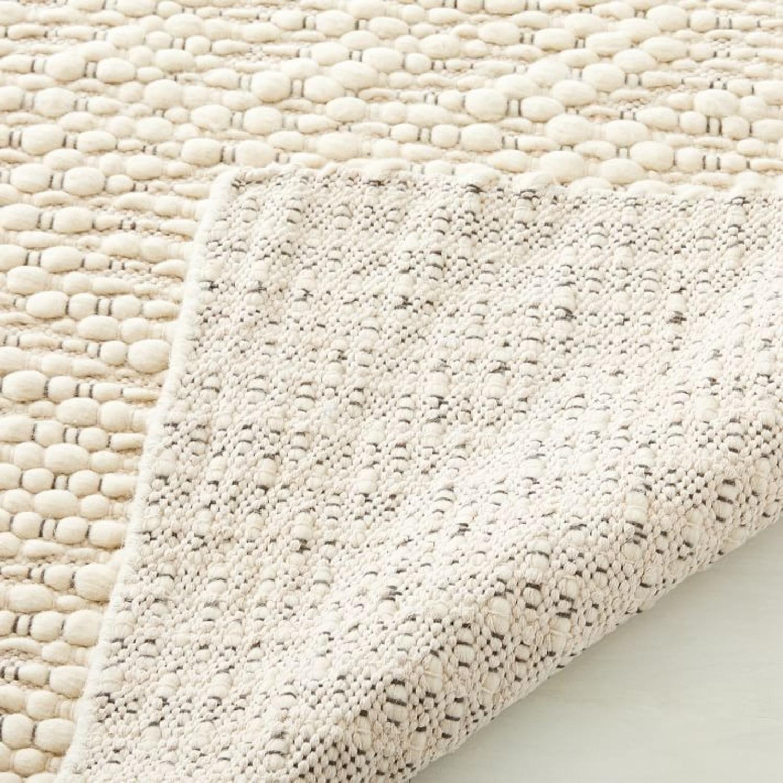 West Elm Slub Stripe Sweater Rug, White, 9'x12' - image-2