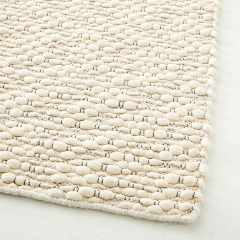 West Elm Slub Stripe Sweater Rug, White, 9'x12' - image-3
