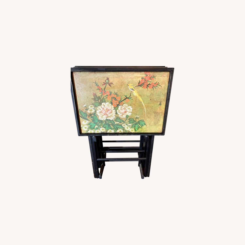 4 Rare Artex Asian Tray Tables - image-0