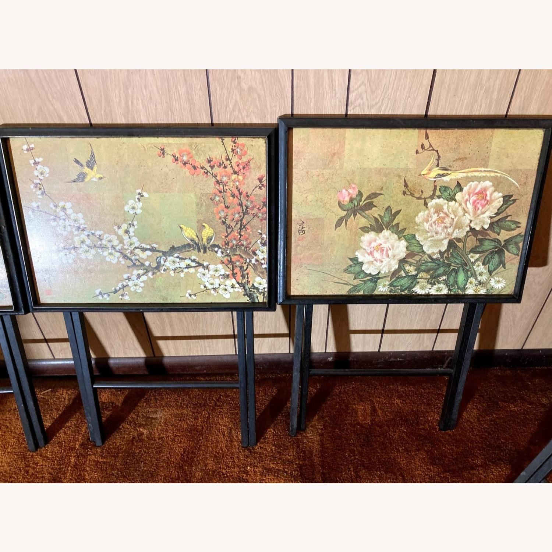 4 Rare Artex Asian Tray Tables - image-2