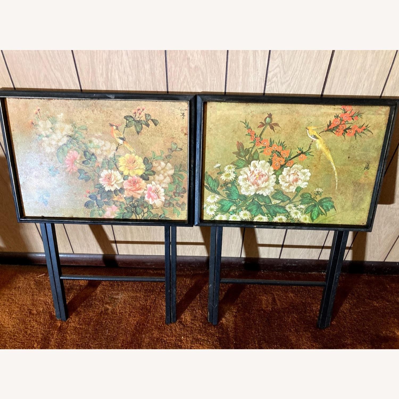 4 Rare Artex Asian Tray Tables - image-1