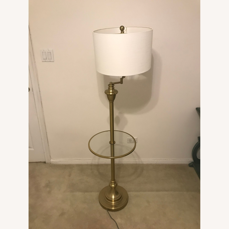 "Target 60"" Metal Cora Side Table and Floor Lamp - image-1"
