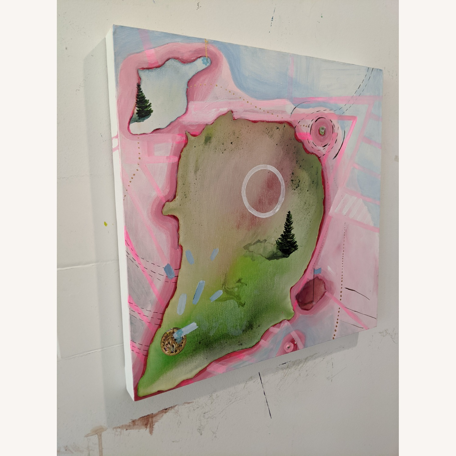 Bright Pink Painting - image-2
