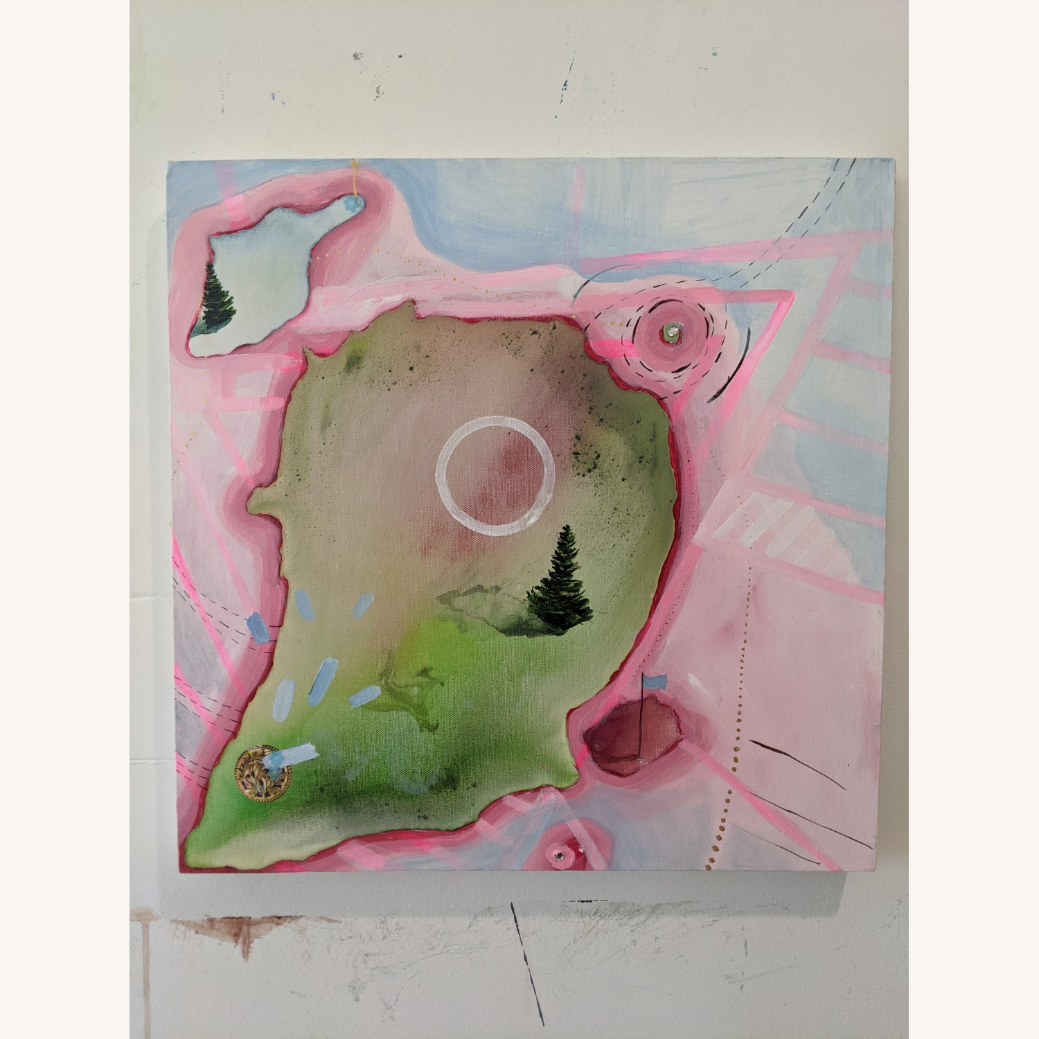 Bright Pink Painting - image-1