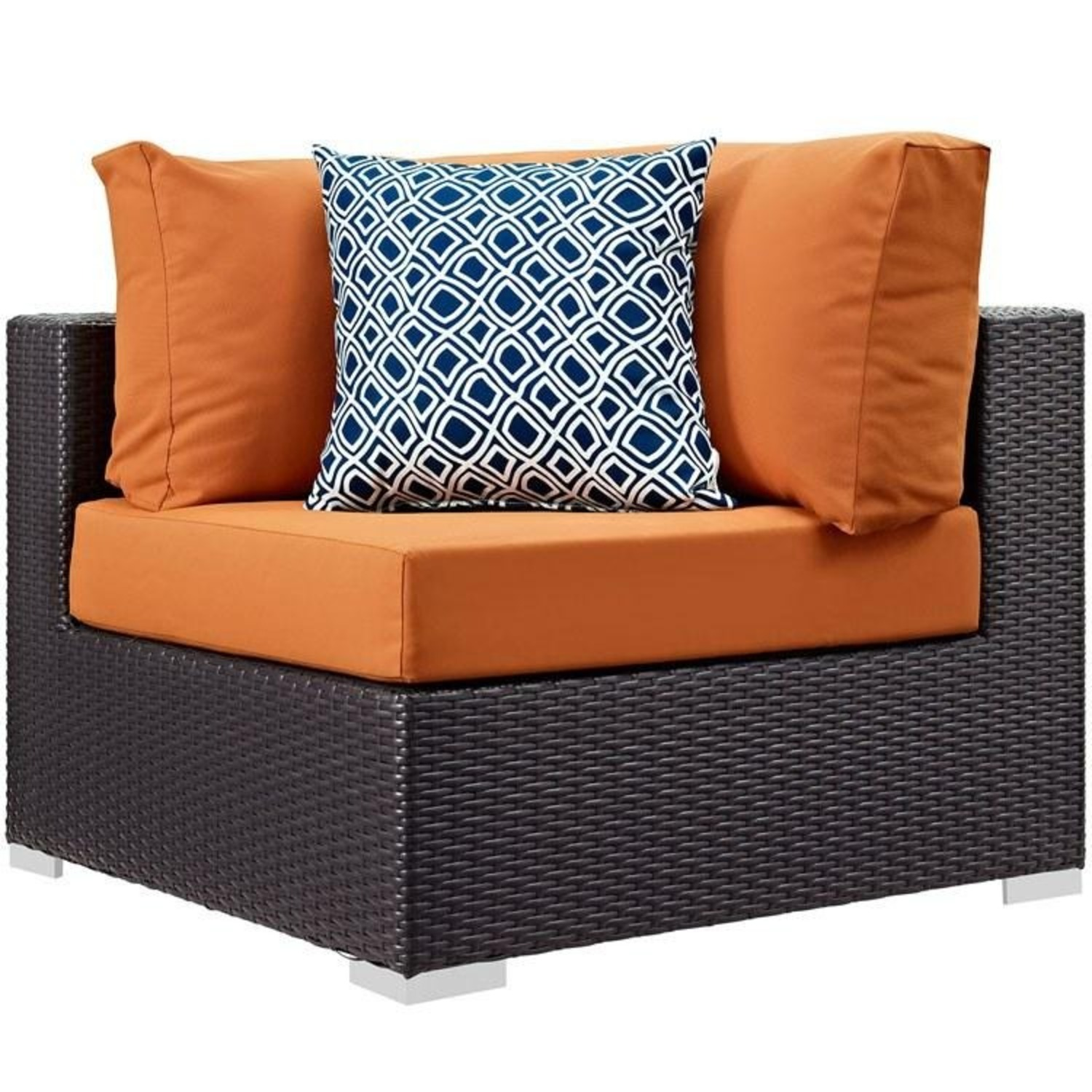 6-Piece Outdoor Sectional In Orange Fabric - image-2