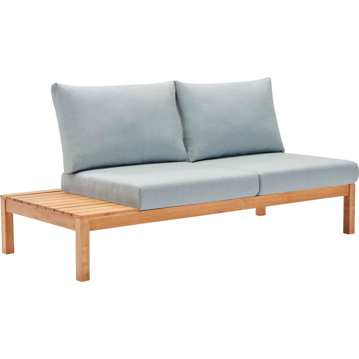 3-Piece Outdoor Sectional In Natural Light Blue - image-1