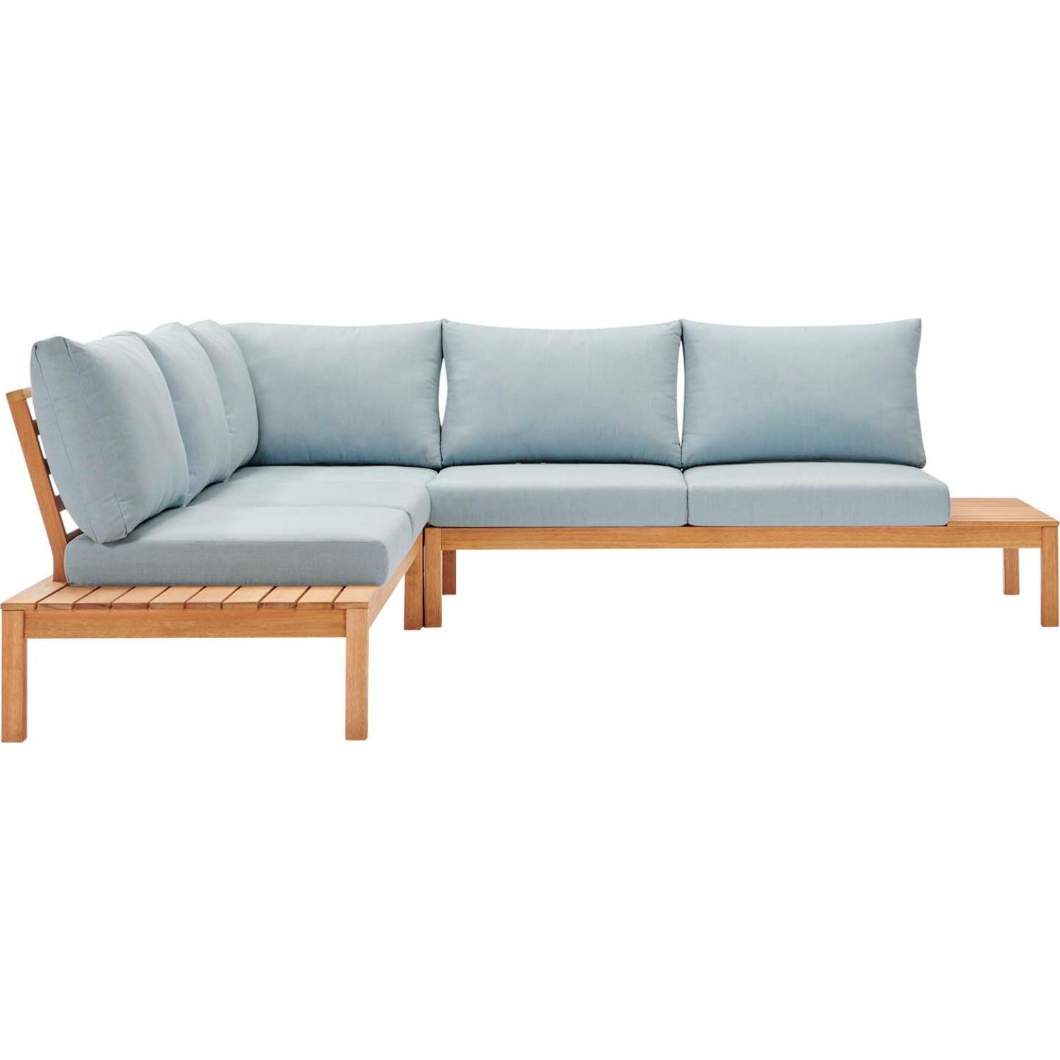 3-Piece Outdoor Sectional In Natural Light Blue - image-0