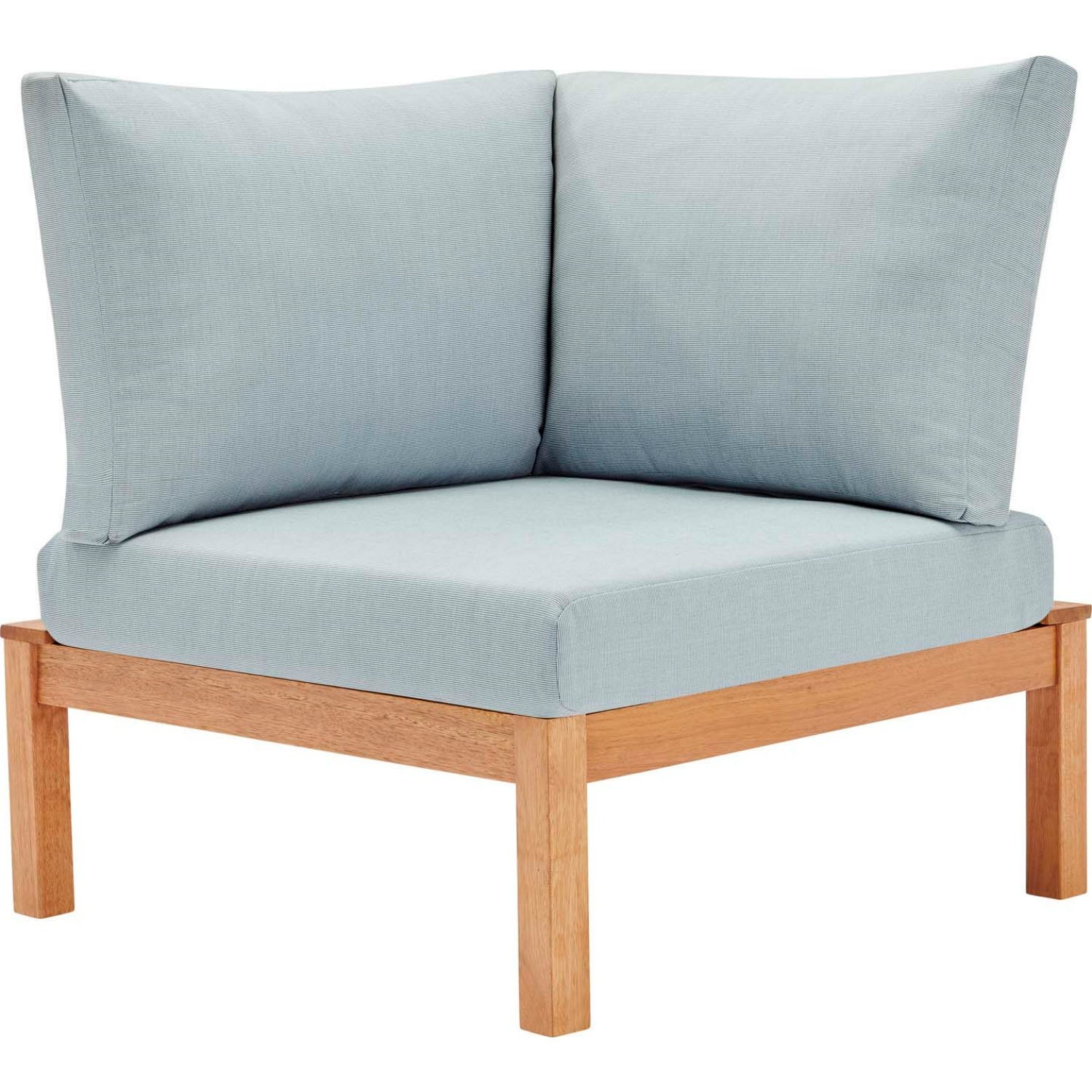 3-Piece Outdoor Sectional In Natural Light Blue - image-6