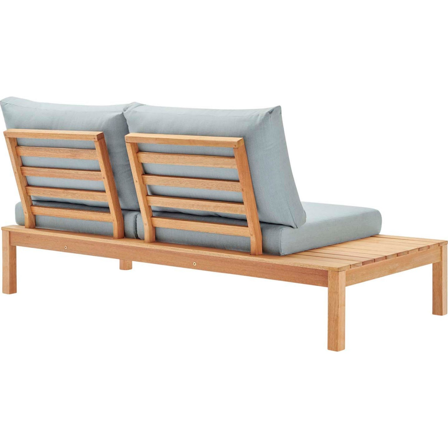 3-Piece Outdoor Sectional In Natural Light Blue - image-2
