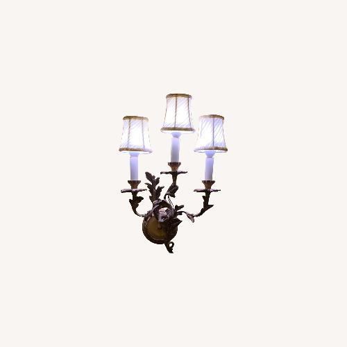 Used Antique Brass 3 Light Sconce for sale on AptDeco