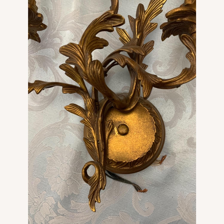 Antique Brass 3 Light Sconce - image-4