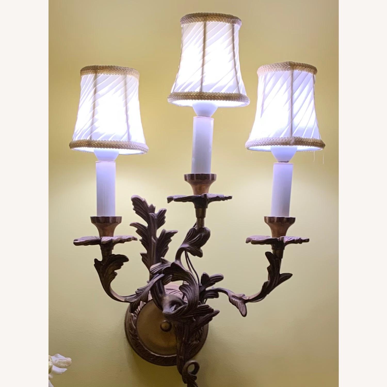 Antique Brass 3 Light Sconce - image-1