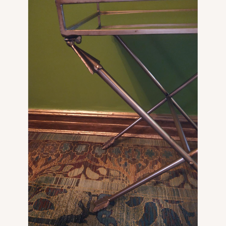 Bronze Mirrored Tray Table, Arrow Design - image-3
