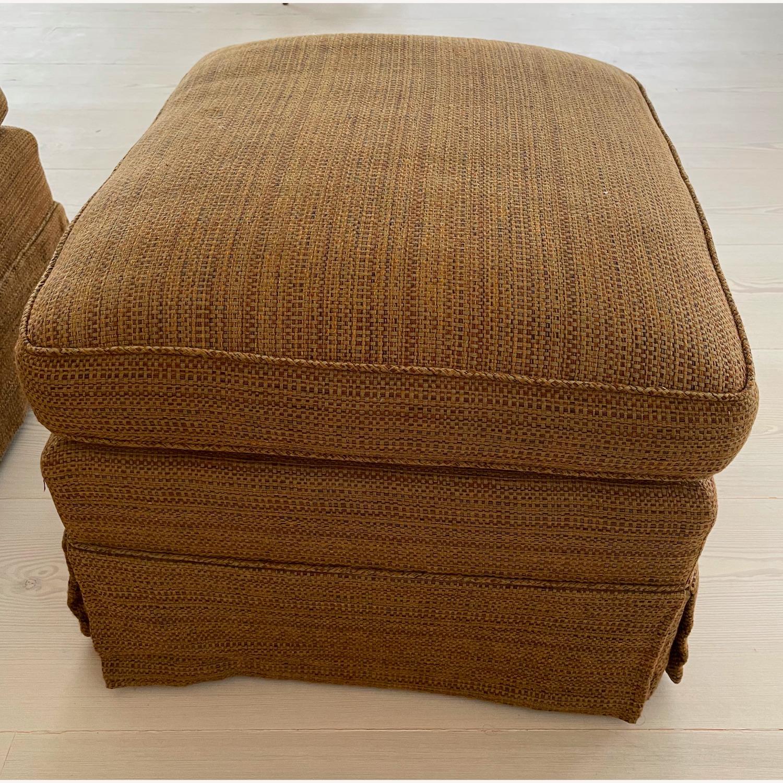 Brown Chair and Ottoman - image-4