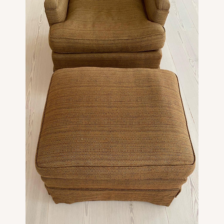 Brown Chair and Ottoman - image-1
