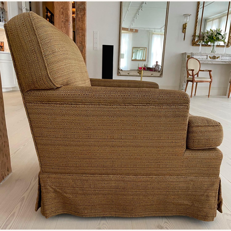 Brown Chair and Ottoman - image-2