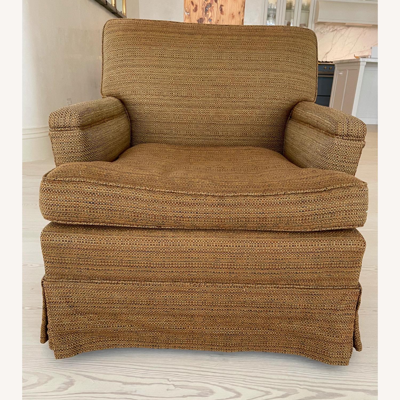 Brown Chair and Ottoman - image-0