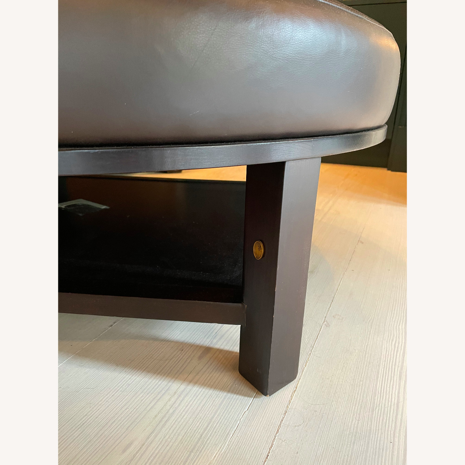 Leather Round Ottoman Table - image-3