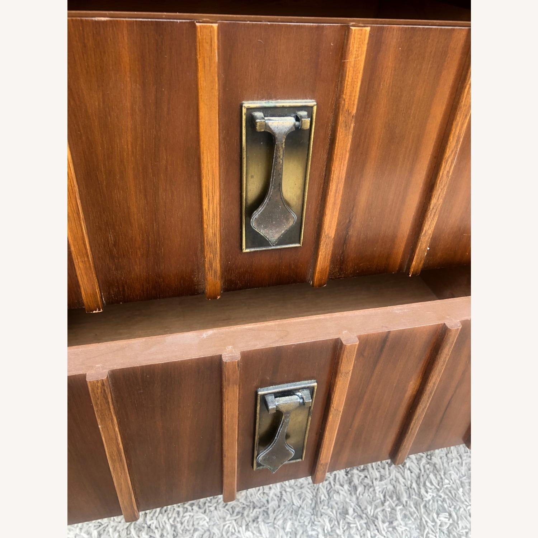 Mid Century 9 Drawer Dresser with Brass Hardwar - image-11