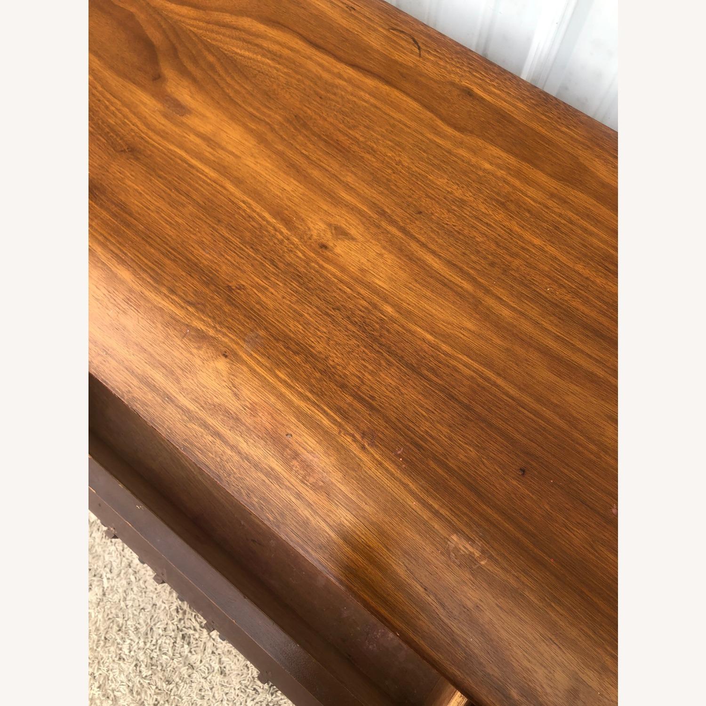 Mid Century 9 Drawer Dresser with Brass Hardwar - image-14