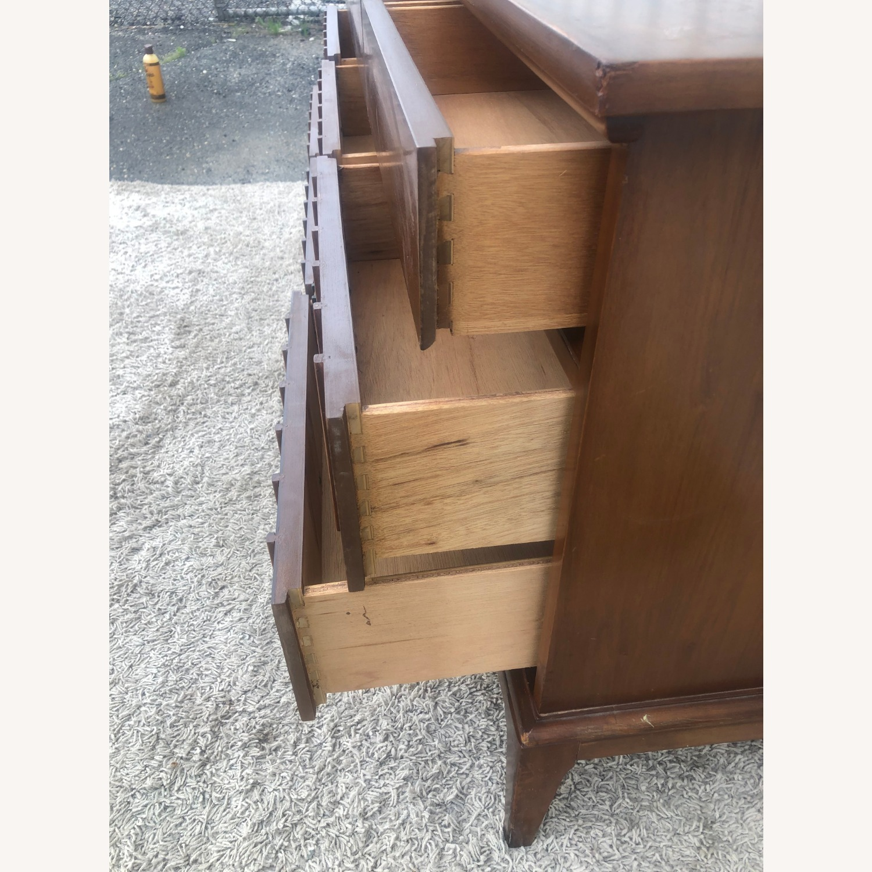 Mid Century 9 Drawer Dresser with Brass Hardwar - image-12