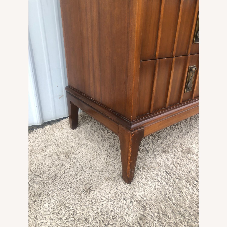 Mid Century 9 Drawer Dresser with Brass Hardwar - image-6