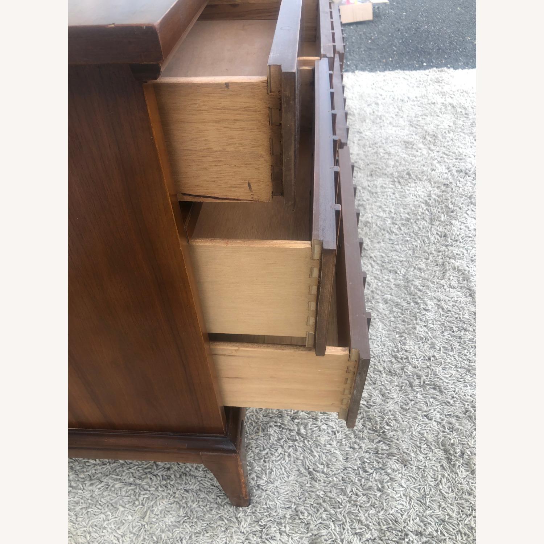 Mid Century 9 Drawer Dresser with Brass Hardwar - image-10