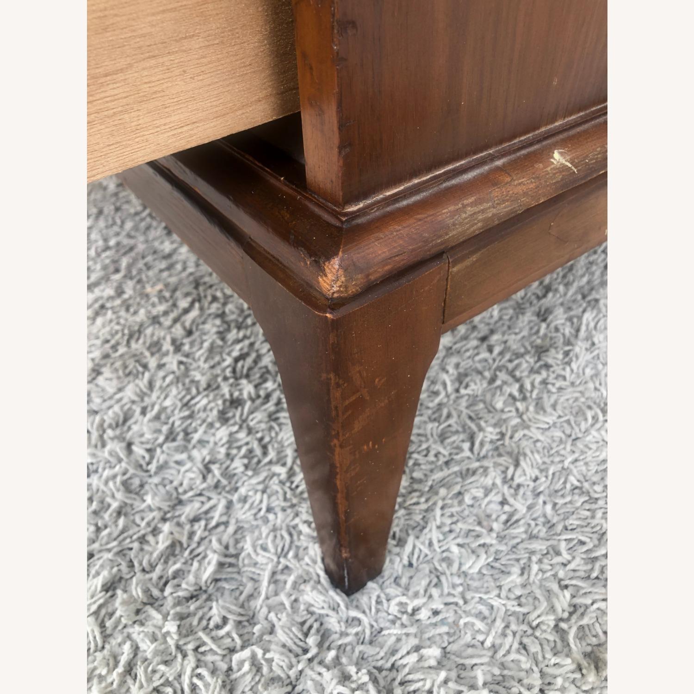 Mid Century 9 Drawer Dresser with Brass Hardwar - image-13