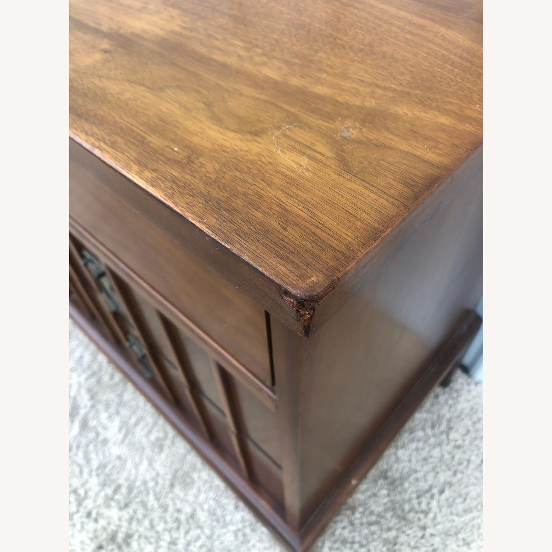 Mid Century 9 Drawer Dresser with Brass Hardwar - image-7