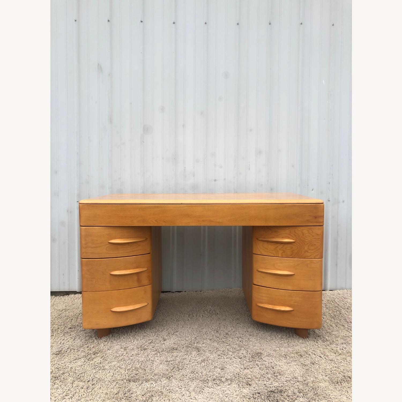 MCM Heywood Wakefield Maple Writing Desk - image-2