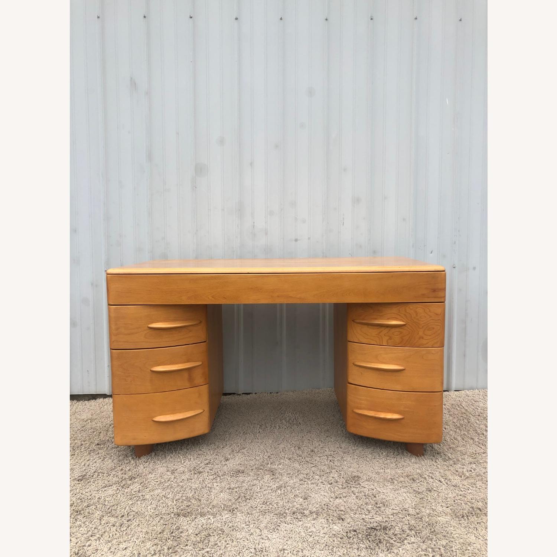MCM Heywood Wakefield Maple Writing Desk - image-1