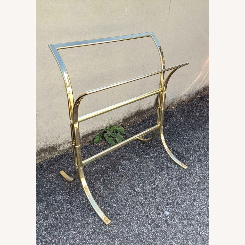 Vintage Brass Plated Quilt Rack - image-1