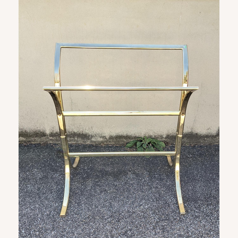 Vintage Brass Plated Quilt Rack - image-2