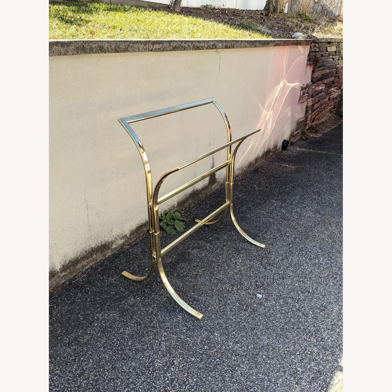 Vintage Brass Plated Quilt Rack - image-3
