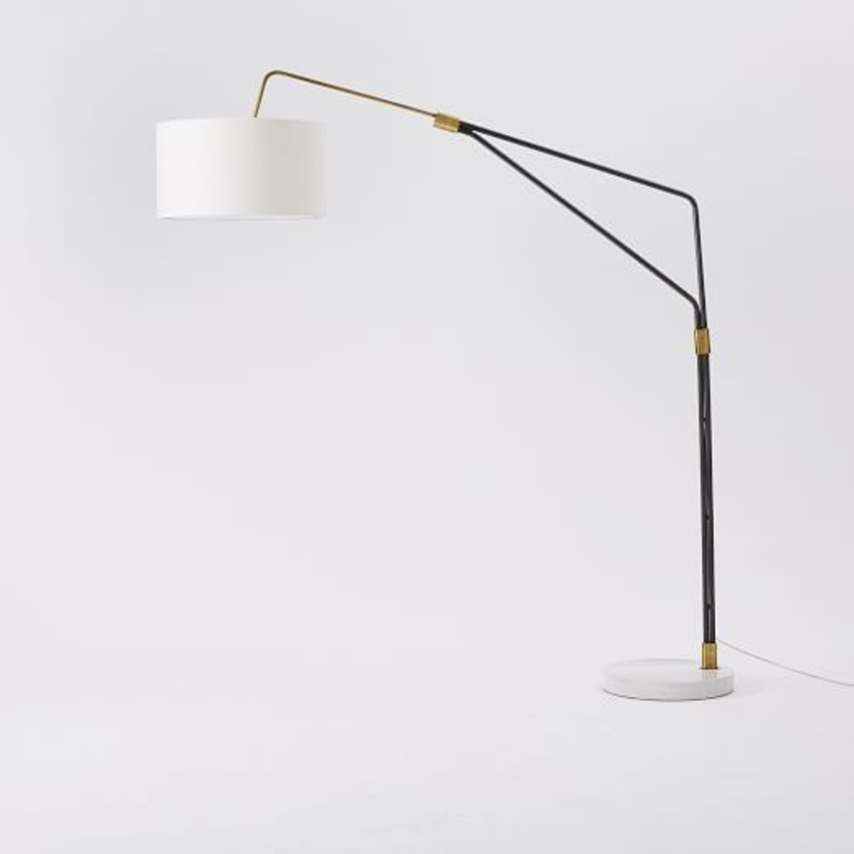 West Elm Mid-Century Overreaching Floor Lamp - image-0